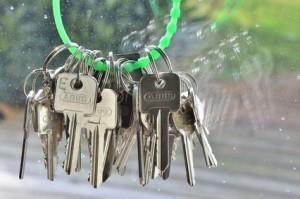 Schlüsselbund mit grünem Ring